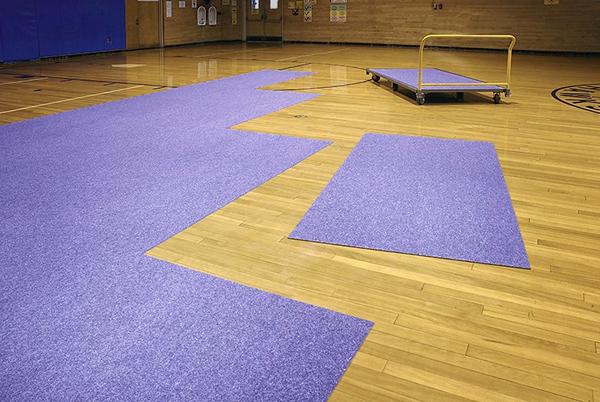 Pro floor shield gymnasium floor protection mats
