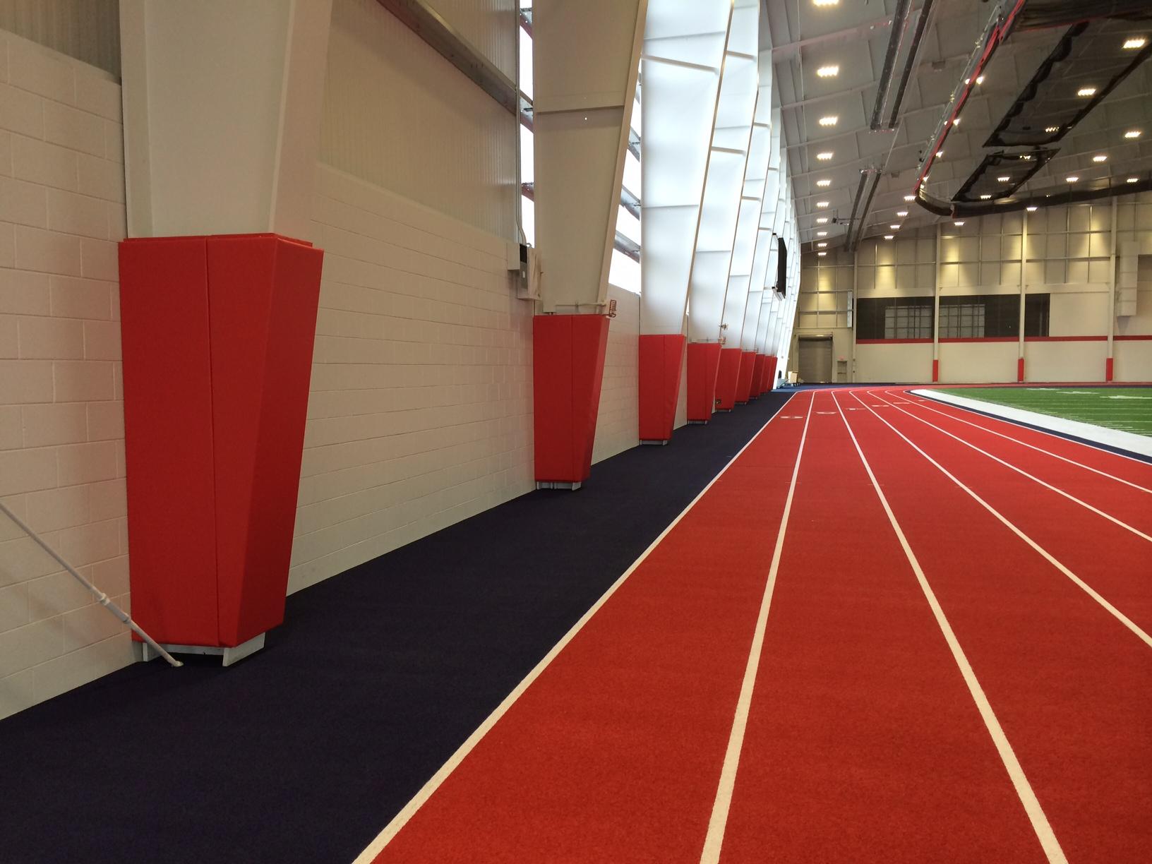 Indoor football and track gymnasium