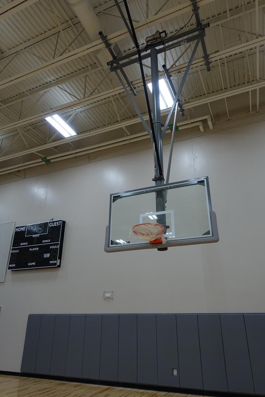 Timber Springs Middle School gymnasium and basketball equipment