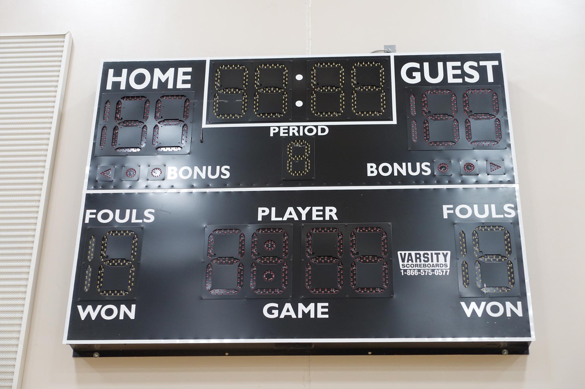 Middle school score board equipment
