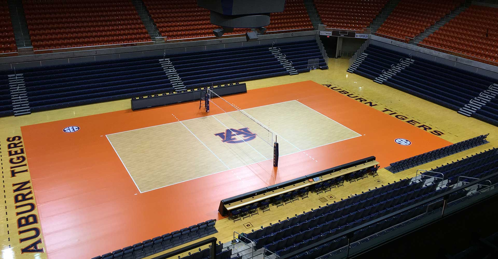 Auburn Tigers Championship Quality Volleyball Surface